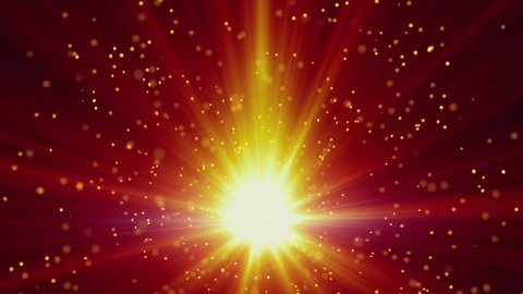 gold light and particles loop background - stock footage