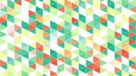 colorful triangles geometric background loop