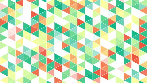 colorful triangles geometric background loop - stock footage