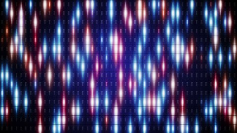 blue orange flashing lights loop background - stock footage