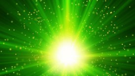 green light and particles loop background - motion graphic
