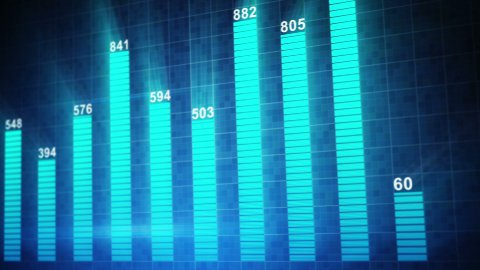 modern staticstic graph chart seamless loop animation - stock footage