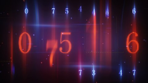 twitching glowing numerals loopable background - stock footage