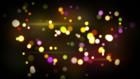 colorful glowing circle bokeh lights loopable background - stock footage