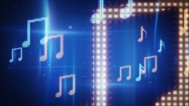 twitching musical notes loopable background - motion graphic
