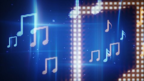 twitching musical notes loopable background - stock footage