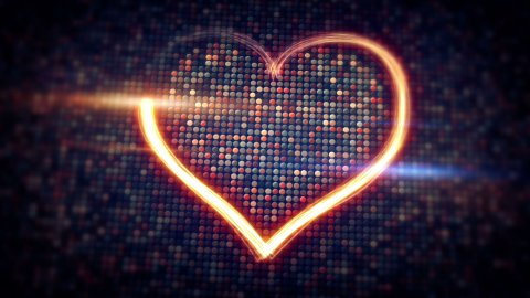 light streaks heart shape loopable - stock footage