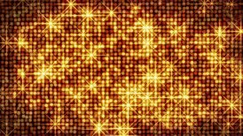shiny gold circles and stars loop - motion graphic
