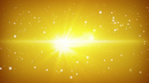 flying particles yellow loopable background - stock footage