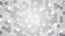 white hexagons loopable background - motion graphic