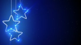 blue hanging stars loop background - motion graphic