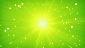 green yellow light and particles loop background - motion graphic