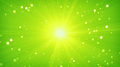 green yellow light and particles loop background - stock footage