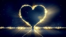 heart shape christmas lights loop background - motion graphic