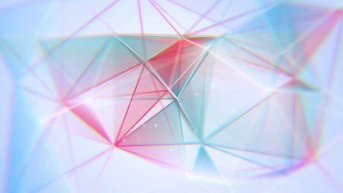 aberrated triangles abstract geometrical background loop - stock footage