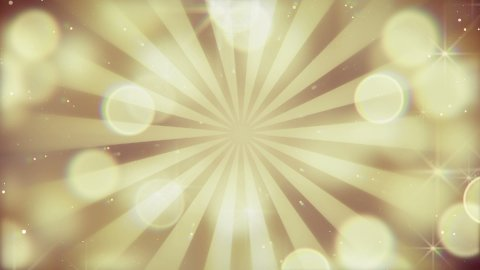 gold bokeh lights and rays loopable background - stock footage