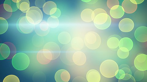 bright green yellow bokeh lights loopable background - stock footage