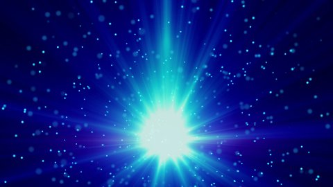 blue light and particles loop background - stock footage