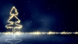 christmas tree glowing lights loop background - motion graphic