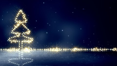 christmas tree glowing lights loop background - stock footage