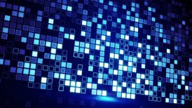 scan blue squares loopable techno background - motion graphic
