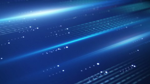 data transfer blue technology loopable background - stock footage