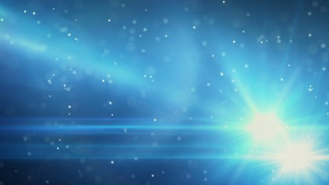 blue light flares and particles loop background - stock footage