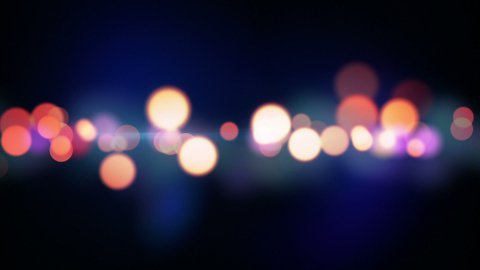 trail of circle lights loopable background - stock footage