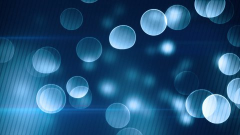 blue bokeh lights loopable background - stock footage