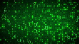 green information technology loopable background - motion graphic