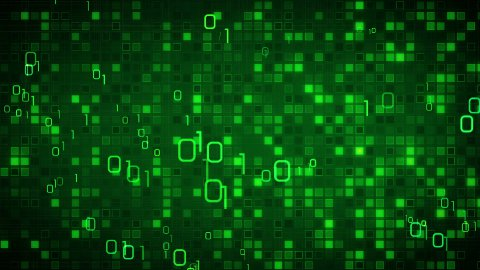 green information technology loopable background - stock footage