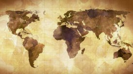 vintage grunge world map animation - motion graphic