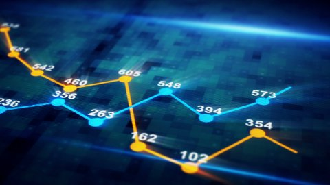 futuristic graph chart seamless loop animation - stock footage