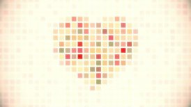 pixel heart seamless loop animation - motion graphic
