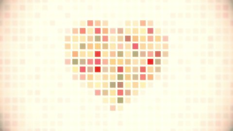 pixel heart seamless loop animation - stock footage