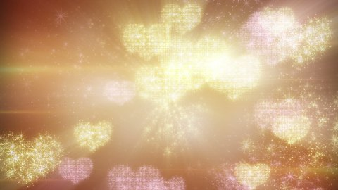 heart shapes of fairy dust loopable background - stock footage