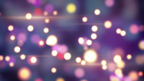 shiny circle bokeh lights loop background - stock footage