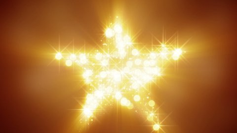 glares and particles star shape loop background - stock footage