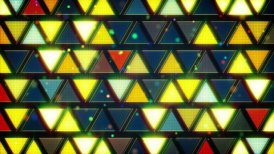 yellow blue flashing triangles loop - motion graphic