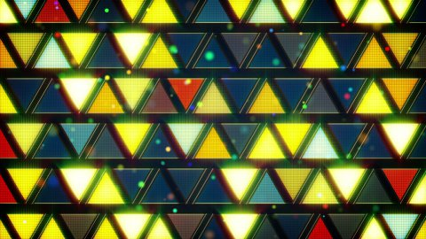 yellow blue flashing triangles loop - stock footage