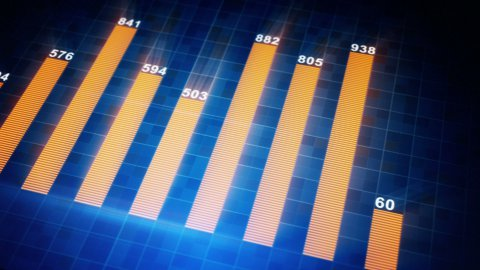 modern business graph chart seamless loop animation - stock footage