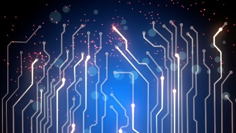 blue computer board loopable background - stock footage