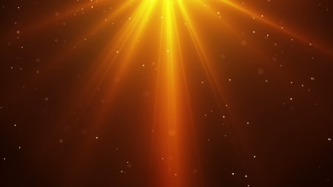 falling sparkling particles and rays of orange light loopable - stock footage