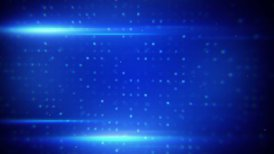 blue light flares and beaming squares loopable background