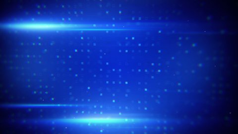 blue light flares and beaming squares loopable background - stock footage