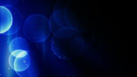 blue bokeh lights loopable background - motion graphic