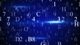 digital hexadecimal data loopable background - motion graphic