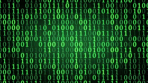 green binary digital code loop - stock footage