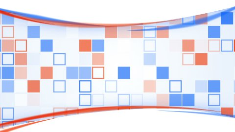 blue orange squares and lines loopable background - stock footage