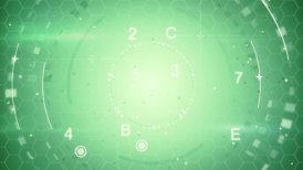 green abstract techno loopable background - motion graphic